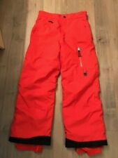 Girls SPYDER Orange Winter Ski Snowboard Pants, Size 10 (US)