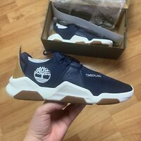 Timberland Men's Earth Rally Oxford Trainers Size UK 9.5 EUR 44 Navy Knit