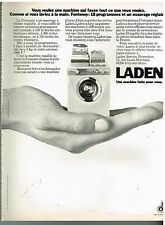 Publicité Advertising 1974 La Machine à laver Fontenoy de Laden