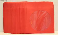 200 Generic Red Color CD DVD Paper Sleeve Envelopes