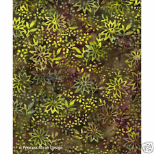 Princess Mirah Batik Fabric Green Forest J51-655, 1/2yd