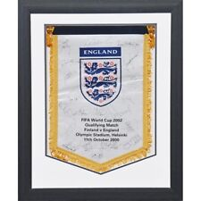England – Fully signed FIFA 2002 World Cup FA Pennant - vs. Finland
