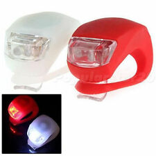Waterproof Silicon Bike Light Set 2LED White Front + 2LED Red Rear Safety Light