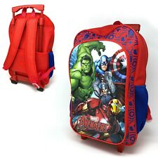MARVEL AVENGERS LGE CHILDREN'S LUGGAGE TROLLEY  BACKPACK  SUITCASE BAG ON WHEELS