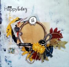 12 x 12 Printed Scrapbook Cardstock - So Happy Today...Just A Boy