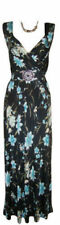 Plus Size Floral V Neck Formal Dresses for Women