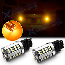 2x T20 7440 Amber Yellow LED Turn Signal Lights No Hyper Flash Canbus Error Free
