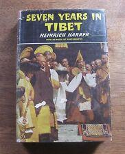 SEVEN YEARS IN TIBET Heinrich Harrer -1st/1st HCDJ  1954 - film movie Brat Pitt