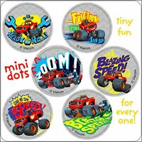 Blaze Stickers Dots x 48 (8 sheets) - Favours - Birthday Party Monster Machines