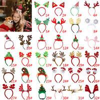 Kinder Erwachsene Weihnachten Neuheit Stirnband Hut Kostüm Haarspange Rentier