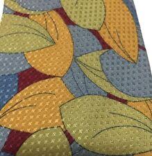 Jhane Barnes Silk Neck Tie Pastel LeafDesigns Blue Green Red Gold (1015)
