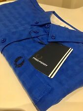 FRED PERRY ladies Refresher Blue shirt size 10