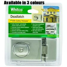 Whitco Chrome Double Cylinder Deadlatch