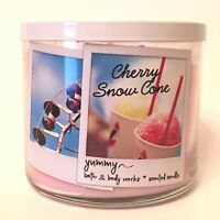1 BATH & BODY WORKS CHERRY SNOW CONE SCENTED 3-WICK LARGE 14.5 OZ FILLED CANDLE