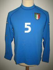 Italy MATCH WORN Italia #5 Cannavaro football shirt soccer jersey maglia size L