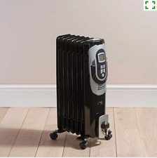 DIGITAL LCD OIL FILLED RADIATOR 1500W 7 FIN PORTABLE ELECTRIC HEATER TIMER