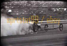 Front Engine Dragster Burnout - Vintage 35mm Race Negative
