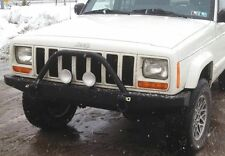 Jeep Cherokee XJ Front Bumper Steel With Shackle Mounts Non Winch W Brush Guard