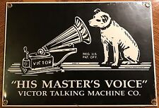 Nipper dog-His Masters Voice RCA Victor Talking Machine porcelain steel sign NEW