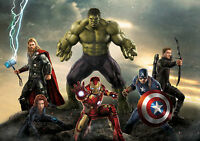 The Avengers Hulk Ironman Thor Giant Poster Art Print - A0 A1 A2 A3 A4 Sizes
