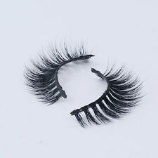 New 3D False Eyelashes Beauty Luxurious Messy 100% Siberian Mink Fur Lashes