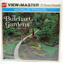 View-Master A016, The Butchart Gardens, Victoria, BC, World Travel, 3 Reel Set