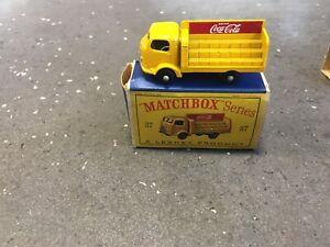 Matchbox Lesney Model Car: Coca Cola Lorry Vintage Boxed no37B England Rare BPW
