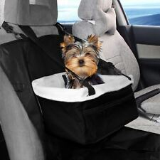 Pet Car Carrier Bed with Safety Belt for Dog/Cat Puppy/Travel Booster Seat Black