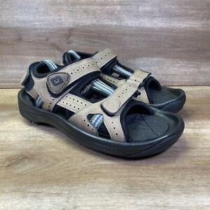 FootJoy Women's Sandals Golf Cleats Size 7 M Leather Sport Spikes Beige FJ 48786