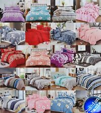 Duvet Cover with Pillow Cases Quilt Cover Bedding Set in Double King size 90 GSM