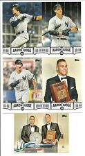 2018 Topps Series 2 Lot of 5 Aaron Judge: AJ - 4 12 25 30 and #389 Award Show
