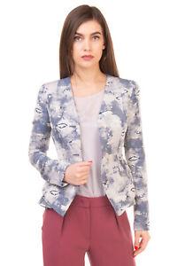 RRP €600 PHILOSOPHY Blazer Jacket Size 40 / S Linen Blend Distressed Jacquard