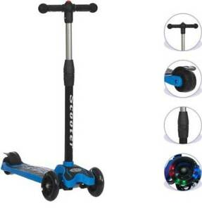 New Smart Kids Scooter With Front Wheel Light & PU Wheels (Blue)