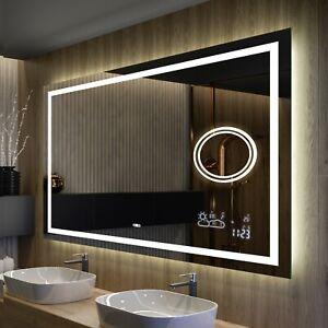 Badspiegel mit LED Beleuchtung | 80x60 100x80 120x60 120x70 120x80 140x80 | M15