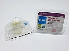 MAM Pacifiers for Newborn Soft Silicone Nipple BPA Free LOT of 2 BRAND NEW