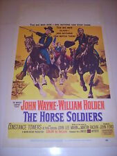 THE HORSE SOLDIERS 1959 AUTHENTIC ORIGINAL 14x22 WINDOW CARD MOVIE POSTER (505)