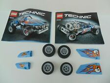 LEGO TECHNIC 42022 Hot Rod 2014 Body Parts Wheels and Instructions ONLY No Box