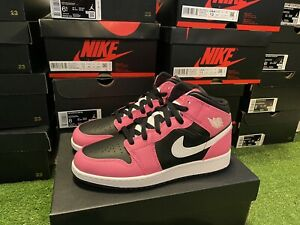 Air Jordan 1 Mid Pinksicle Pink Black White (GS) 555112-002 Size 6.5Y Brand New