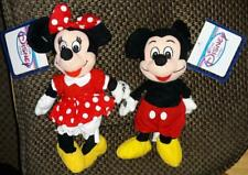Disney Mickey and Minnie classic bean bag plush set - new with tags
