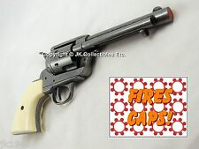 Replica M1873 FRONTIER GRAY PISTOL Colt Peacemaker Revolver White Grooved Grips