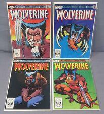 WOLVERINE #1 2 3 4 (Limited Series Full Run 1-4) Marvel Comics 1982 Frank Miller