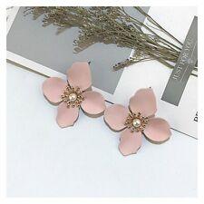 Bohemia Painting Flowers Droplet Tassel Ear Stud Earrings Jewelry For Women Hot