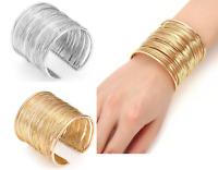 Bracciale Donna Braccialetto Rigido Bigiotteria Argento Oro Moda Accessor