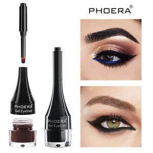 Phoera Waterproof Gel Eyeliner Long Lasting Smudgeproof Portable 10 Colors Gift