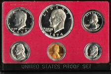1974 s US proof set of 6 coins