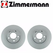 BMW X3 F25 Set of 2 Rear Disc Brake Rotors Zimmermann 150349520 / 34206790362