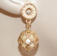ORECCHINI PERLE donna Oro dorato Perline pendenti ciondolo charms elegante N76