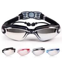Schwimmbrille Anti-Fog UV Schwimmbrille mit Ohrstöpsel Wassersportbrille U_M
