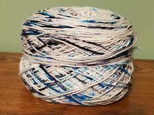 New ListingNwot Hand-dyed Sock Yarn - Sw Merino White & black & Teal Specks-Center Pull
