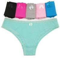 6 Pcs Women's Cotton Underwear Sexy Thongs G-string Panties Tangas,Size S M L